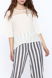 Two Chic Luxe White Lightweight Blouse - Front cropped