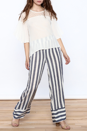 Two Chic Luxe White Lightweight Blouse - Front full body