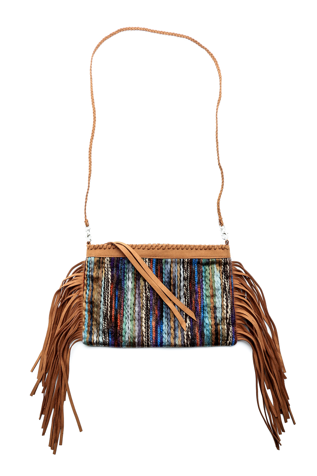 Two Chic Luxe Suede Fringe Clutch - Main Image