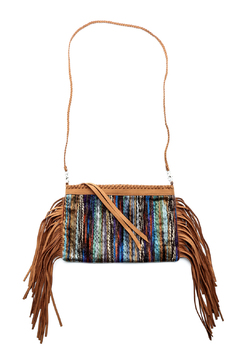 Two Chic Luxe Suede Fringe Clutch - Alternate List Image