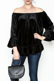 Two Chic Velvet Off Shoulder Top - Product Mini Image