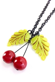 GHome2 Two Leaf Necklace - Back cropped