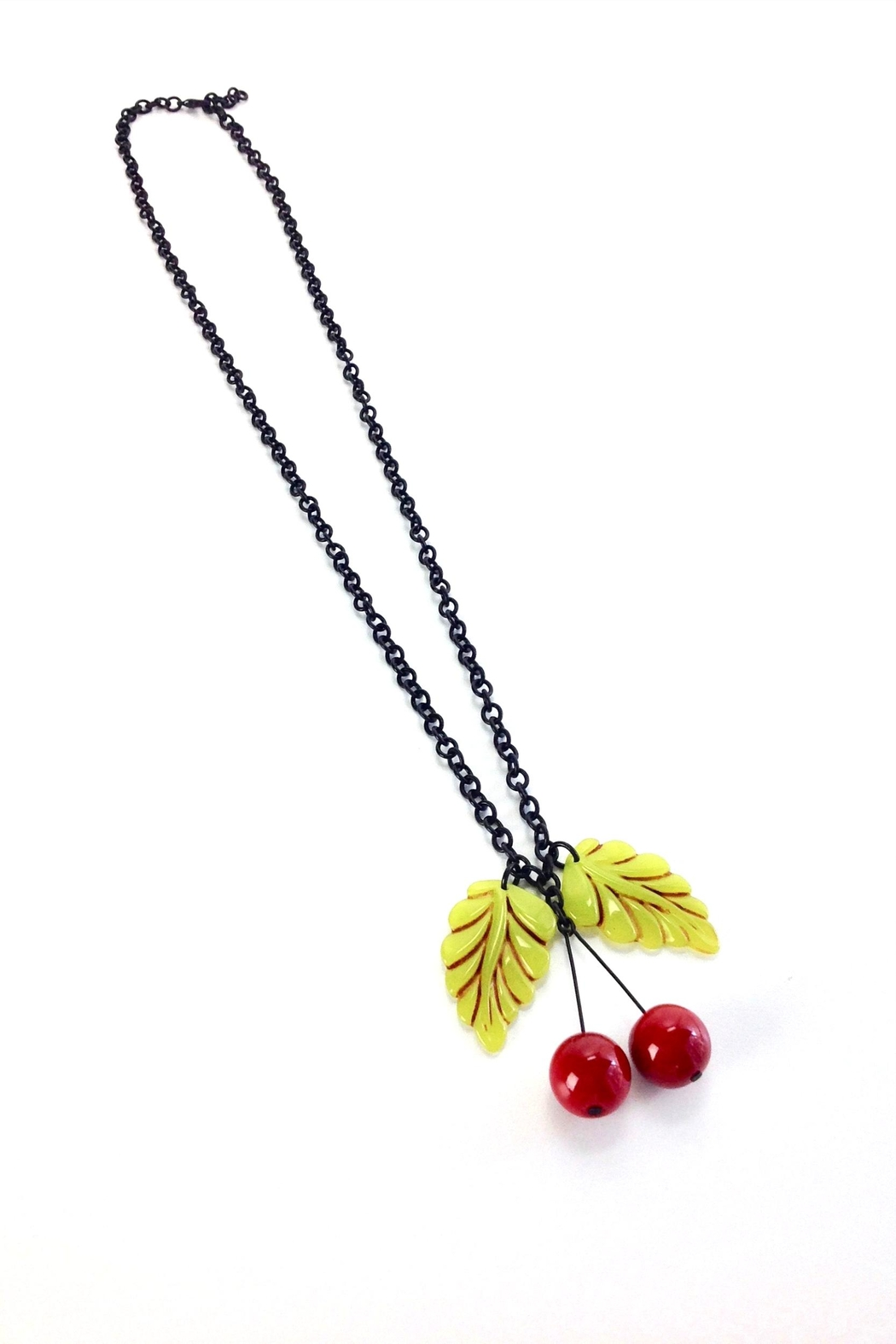 GHome2 Two Leaf Necklace - Side Cropped Image