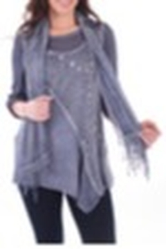 Clotheshead Two Piece Blue Top w/Scarf - Product List Image