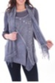 Clotheshead Two Piece Blue Top w/Scarf - Product Mini Image