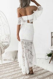 Esley Collection Two-Piece Lace Dress - Back cropped