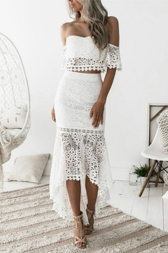 Esley Collection Two-Piece Lace Dress - Product List Image