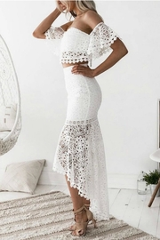 Esley Collection Two-Piece Lace Dress - Front full body