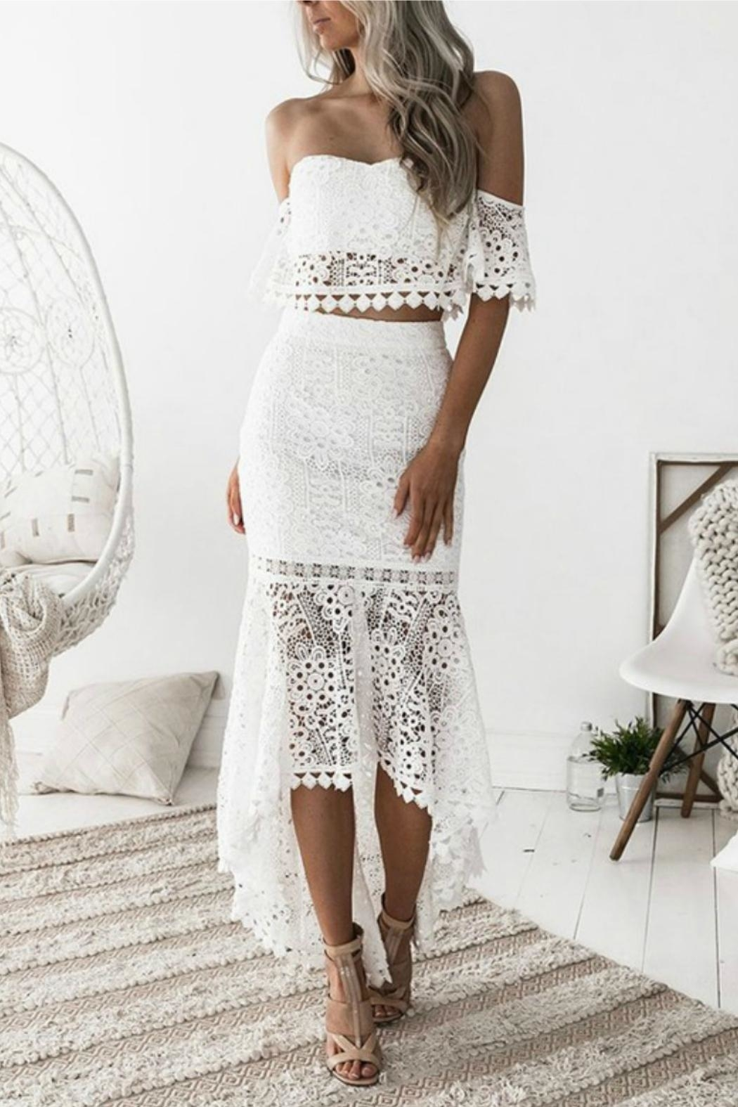 Esley Collection Two-Piece Lace Dress - Main Image