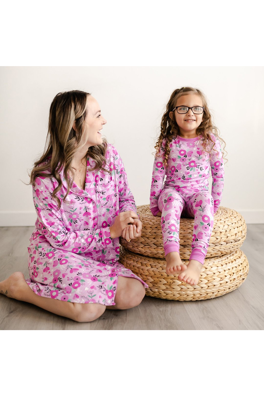Little Sleepies Two-Piece Pajama Set - Sweetheart Floral - Side Cropped Image