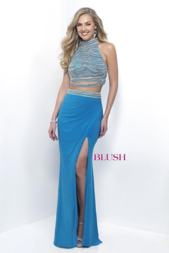 Blush Two Piece Prom Dress - Product List Image