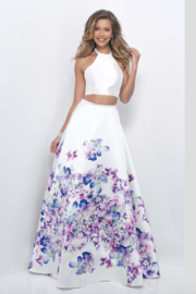 Blush Two-piece Prom Gown - Product Mini Image