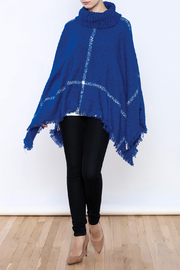 Two's Company Cowl Neck Poncho - Front full body