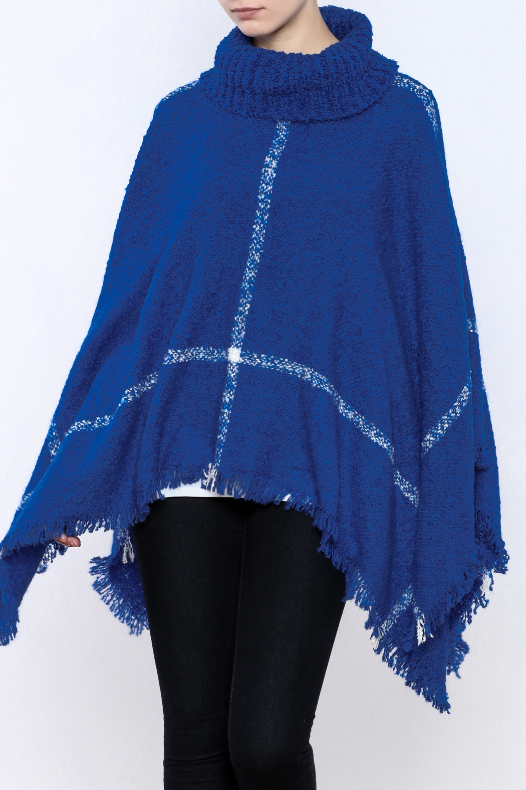 Two's Company Cowl Neck Poncho - Main Image