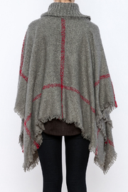 Two's Company Cowl Neck Poncho - Back cropped