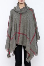 Two's Company Cowl Neck Poncho - Side cropped