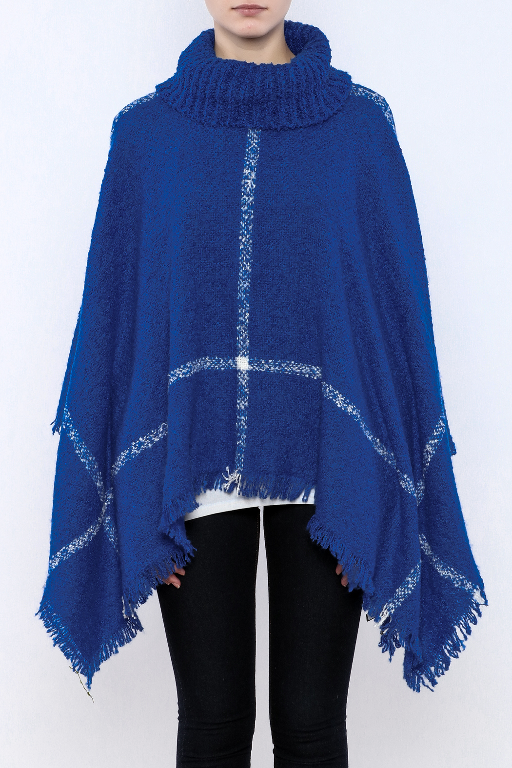 Two's Company Cowl Neck Poncho - Side Cropped Image