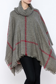 Two's Company Cowl Neck Poncho - Front cropped