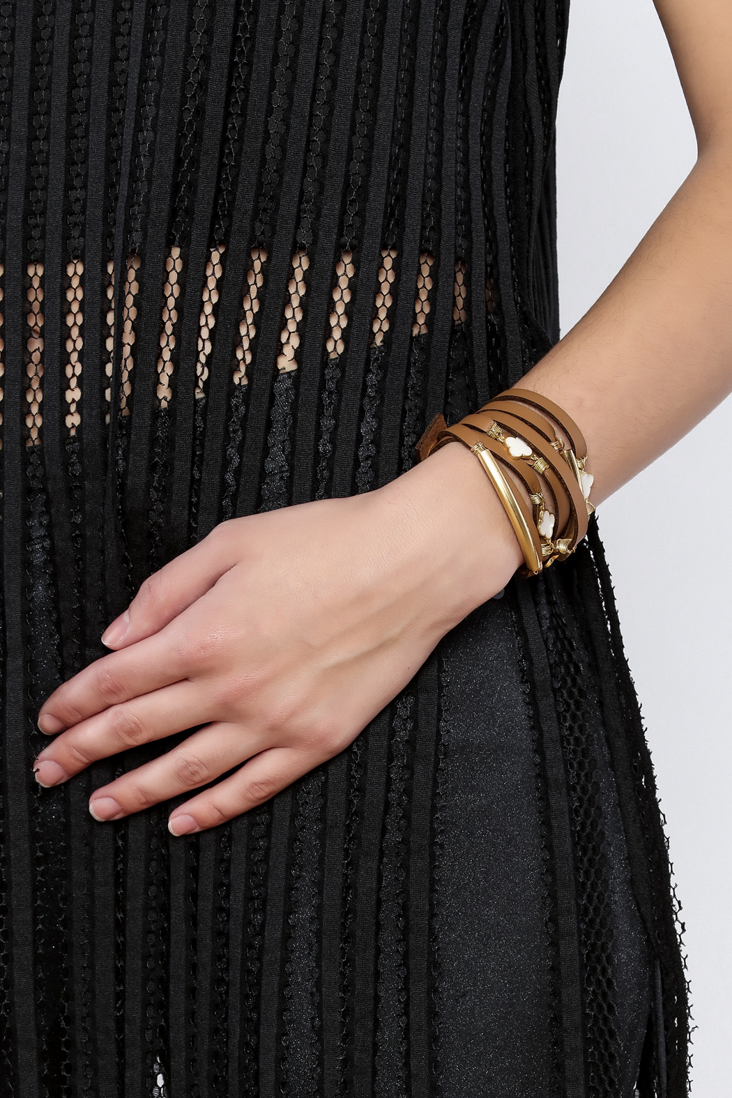 Two S Company Double Wrap Bracelet Back Cropped Image
