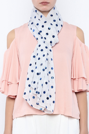 Two's Company Foil Dot Scarf - Back cropped