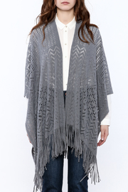 Two's Company Fringe Wrap Sweater - Side cropped