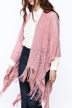 Two's Company Fringe Wrap Sweater - Product List Image