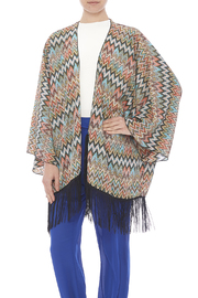 Two's Company Fringed Kimono Shrug - Product Mini Image