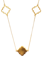 Two's Company Long Clover Necklace - Front full body