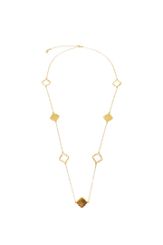 Two's Company Long Clover Necklace - Front cropped