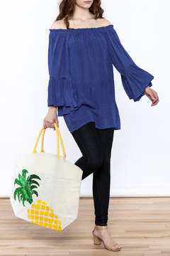 Two's Company Pineapple Beach Bag - Alternate List Image
