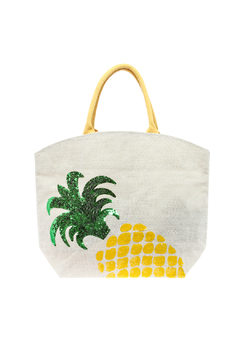 Two's Company Pineapple Beach Bag - Product List Image