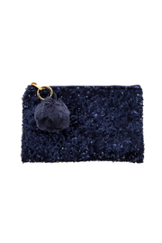 Two's Company Sequined Clutch - Front cropped