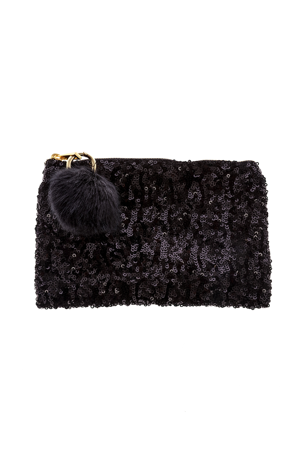 Two's Company Sequined Clutch - Front Cropped Image