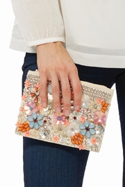 Two's Flower Beaded Bag - Front cropped