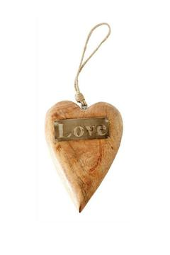 Two's Mango Wood Heart - Product List Image