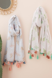 Two's Pastel Cactus Scarf - Front full body