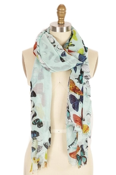 Shoptiques Product: Blue Butterfly Scarf