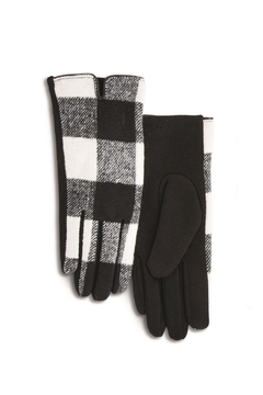 Two's Company Buffalo Plaid Gloves - Alternate List Image