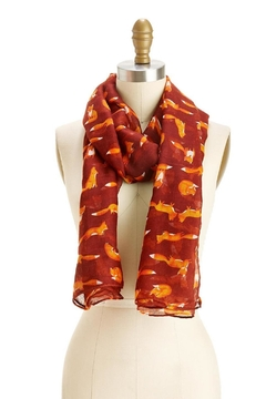 Shoptiques Product: Burgundy Fox Print Scarf