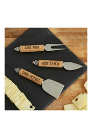 Two's Company Cork-Handle Cheese Knives - Front cropped
