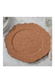 Two's Company Cork Vaneer-Scalloped Charger - Front cropped