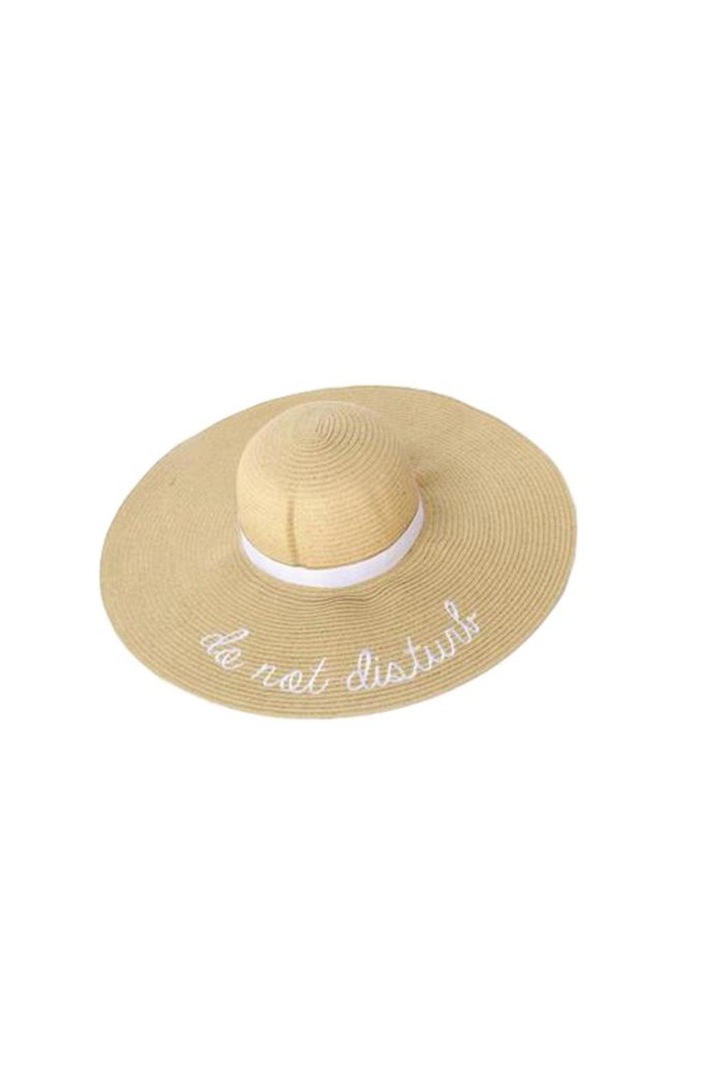 Two's Company Do Not Disturb Sun Hat - Front Cropped Image