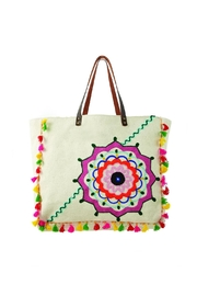 Two's Company Embroidered Canvas Tote - Product Mini Image