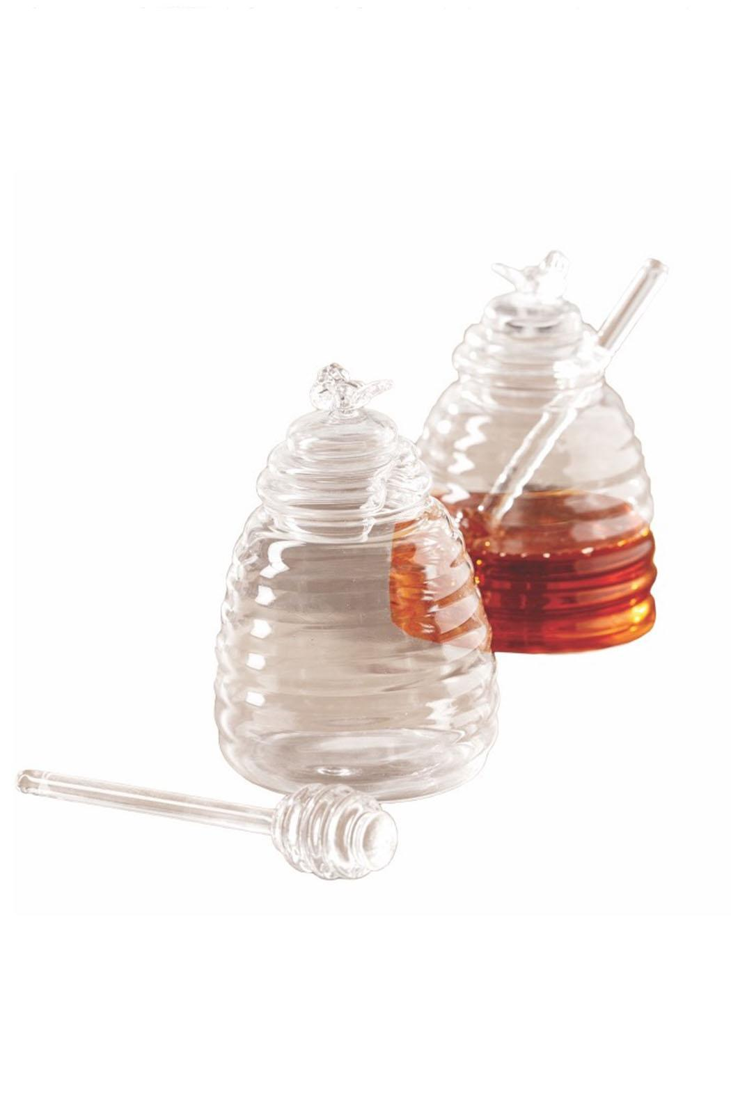 Two's Company Glass Honey Pot - Main Image