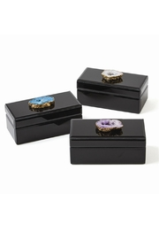 Two's Company Glass Jewelry Box - Product Mini Image