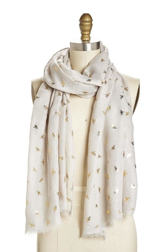Shoptiques Product: Grey Bee Pattern Scarf