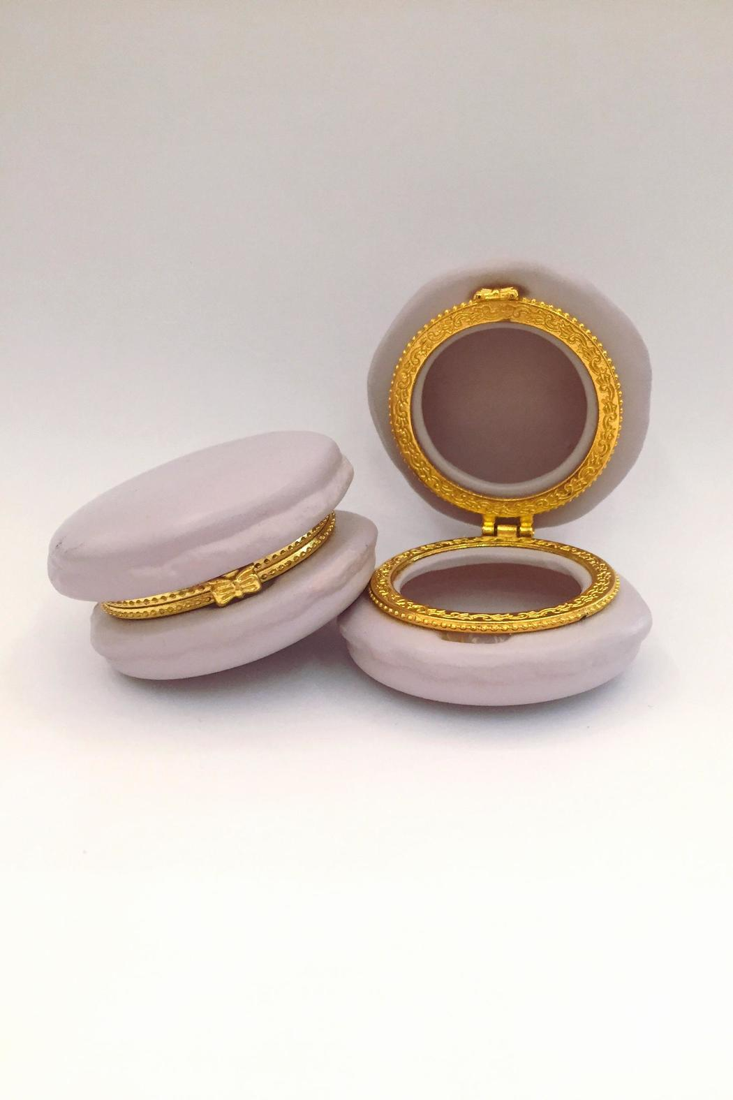 Two's Company Macaron Trinket Boxes - Front Cropped Image