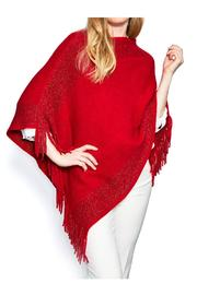 Two's Company Metallic Infinity Poncho - Front cropped