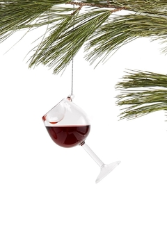 Two's Company Mini Wine Ornament - Product List Image