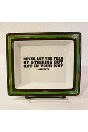 "Two's Company ""Never Let The Fear Of Striking Out Get In Your Way"" Trinket Tray - Product Mini Image"
